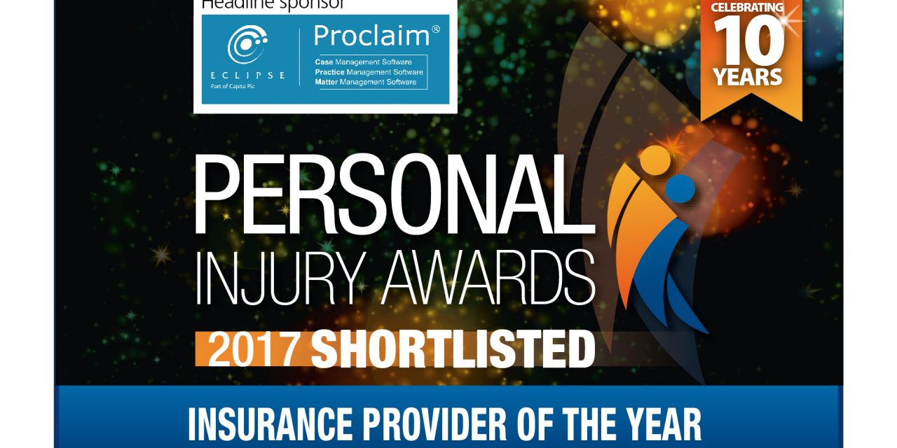 Financial & Legal Insurance nominated at the Personal Injury Awards